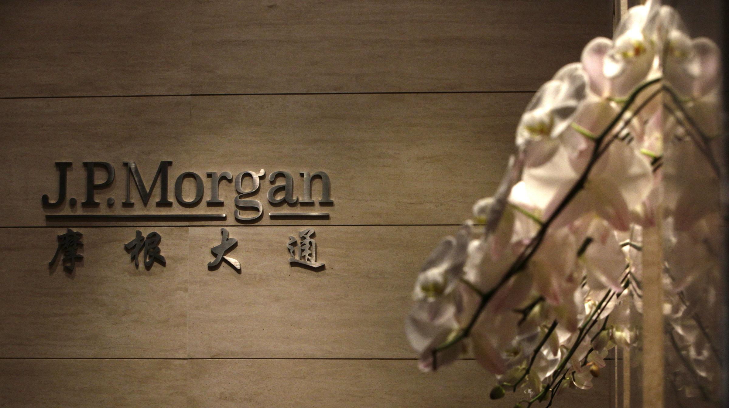 J.P. Morgan's Beijing office.