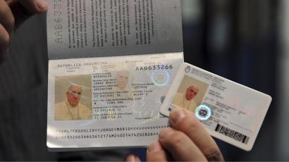 Pope's passport and ID