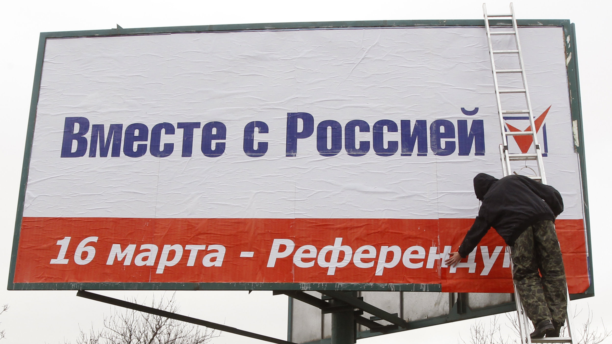 """Together with Russia. March 16 - referendum."" The impact will be felt far beyond Crimea."
