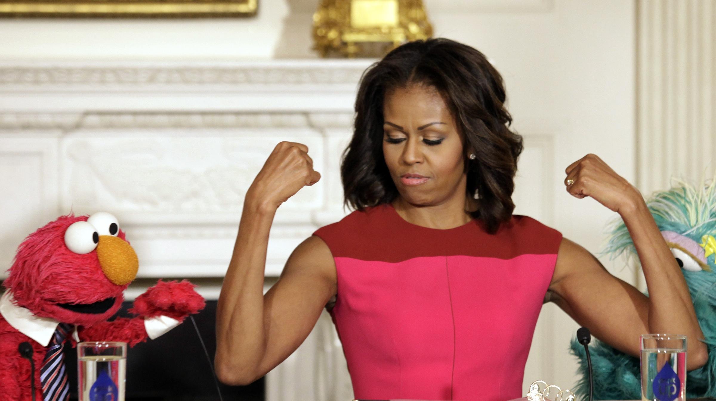 Michelle Obama muppet