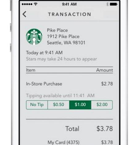 Starbucks tipping