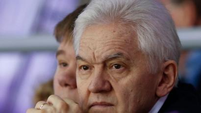 Russian businessman Gennady Timchenko attends the men's qualification ice hockey game between Russia and Norway at the Sochi 2014 Winter Olympic Games, February 18, 2014.