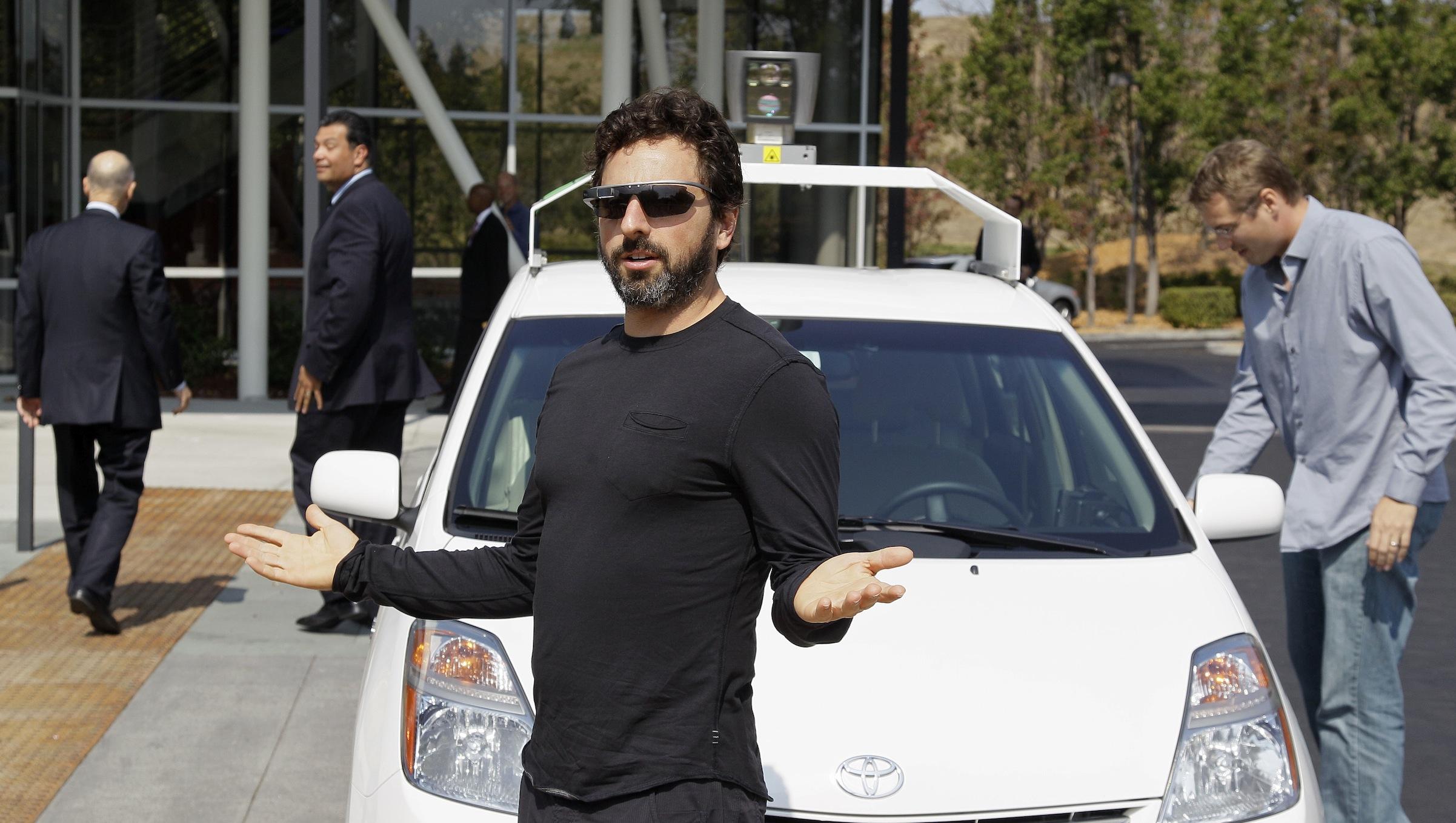 Sergey Brin Google driverless car