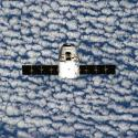 This photo provided by NASA is one of an extensive series of still photos documenting the arrival and ultimate capture and berthing of the SpaceX Dragon capsule at the International Space Station, as photographed by the Expedition 39 crew members onboard the orbital outpost Sunday April 20, 2014.