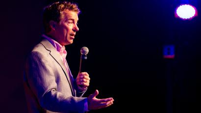 Republican U.S. Sen. Rand Paul of Kentucky speaks at a fundraiser for state Sen. Jack Johnson in Franklin, Tenn., on Sunday, July 28, 2013. Paul defended his opposition to federal domestic surveillance programs, and said that his Republican critics' position alienates young people from the GOP. ()