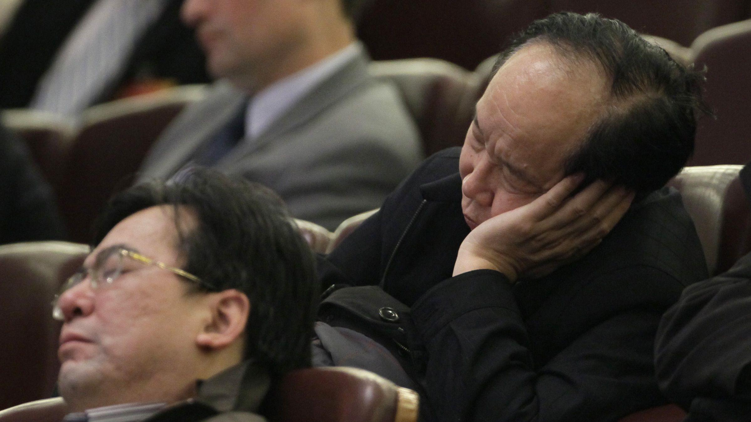 sleeping delegates