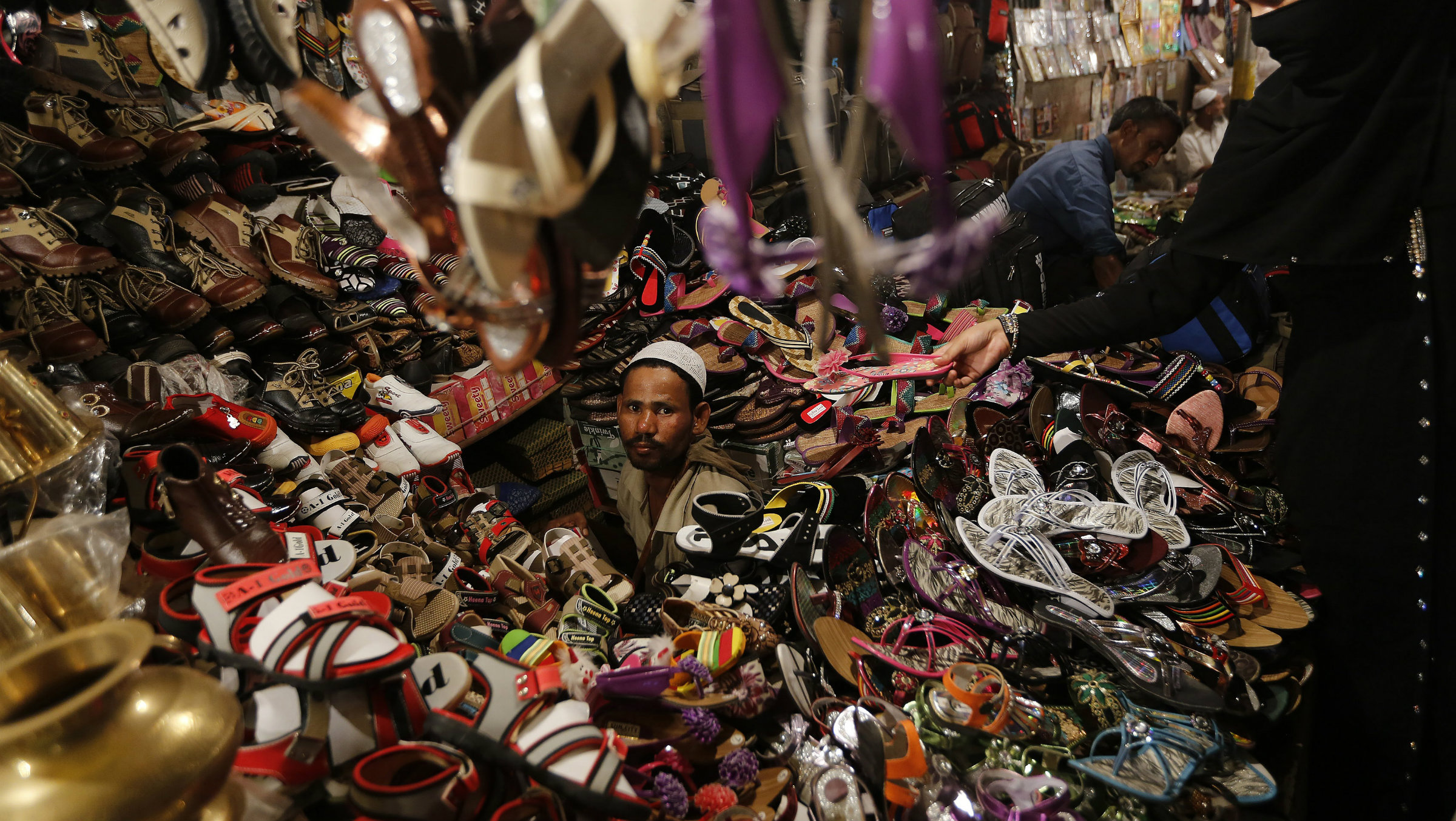 The BJP says it wants to protect small local retailers, like this one in Old Delhi.