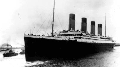The liner Titanic leaves Southampton, England on her maiden voyage Wednesday, April 10, 1912.
