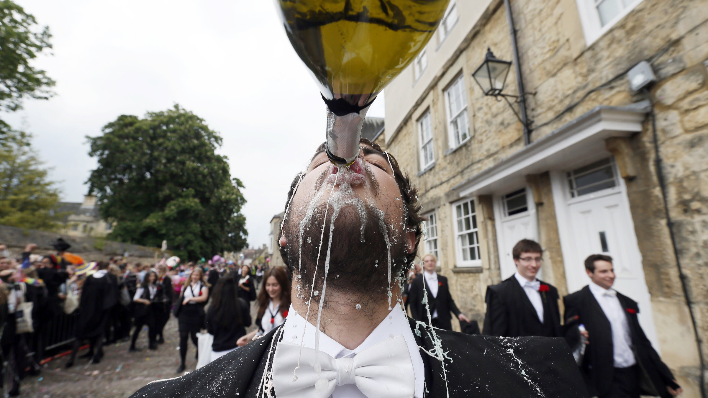 UK university students champagne
