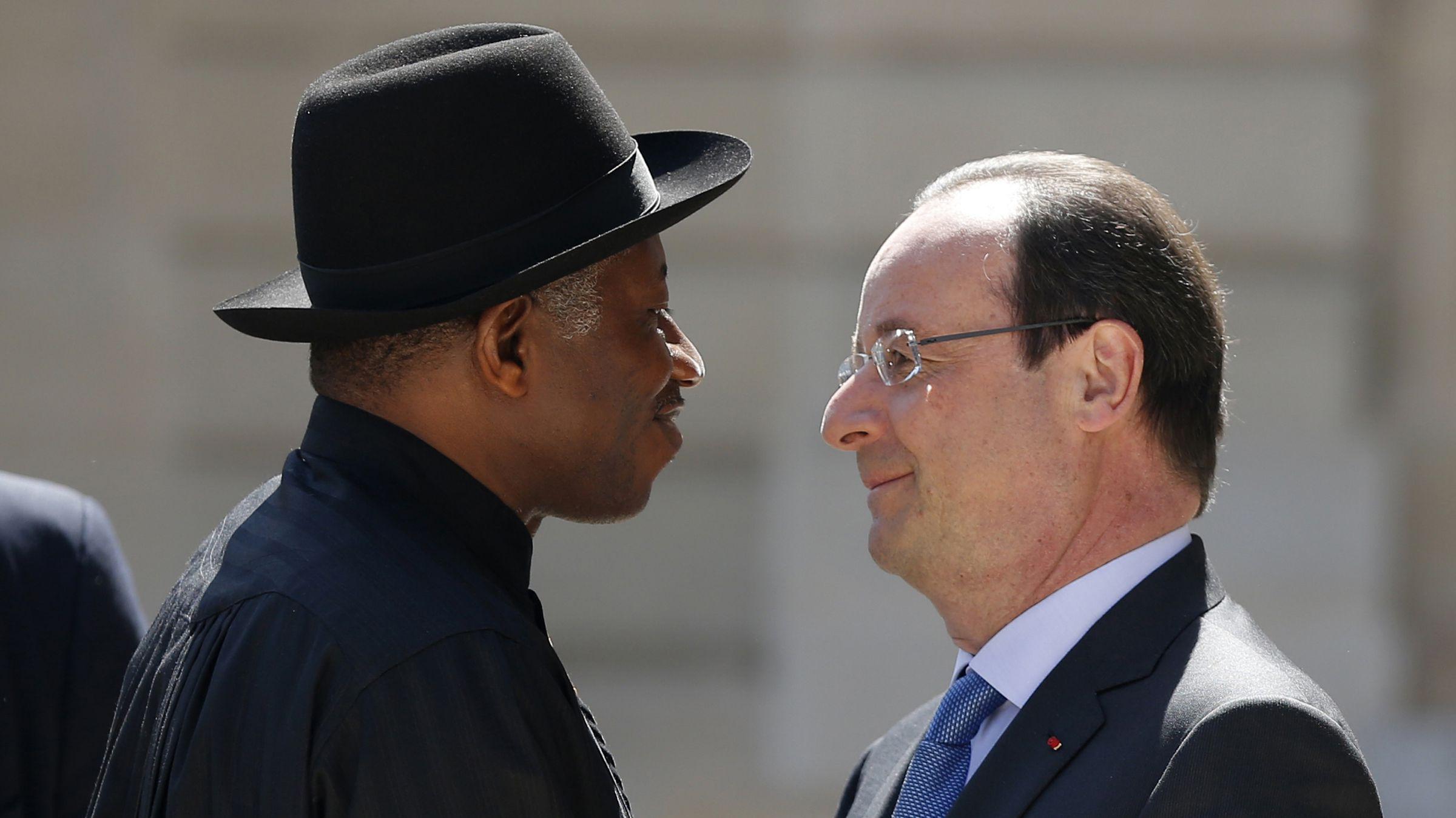 Francois Holland, Goodluck Jonathan