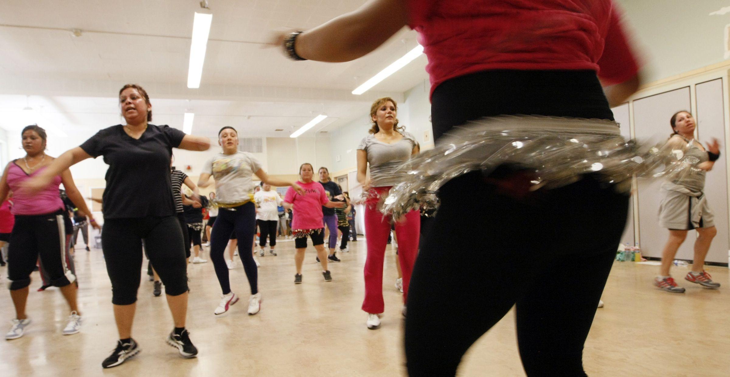 Women dancing Zumba