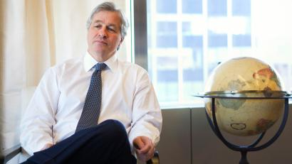CEO of JPMorgan Chase Jamie Dimon in his office in New York