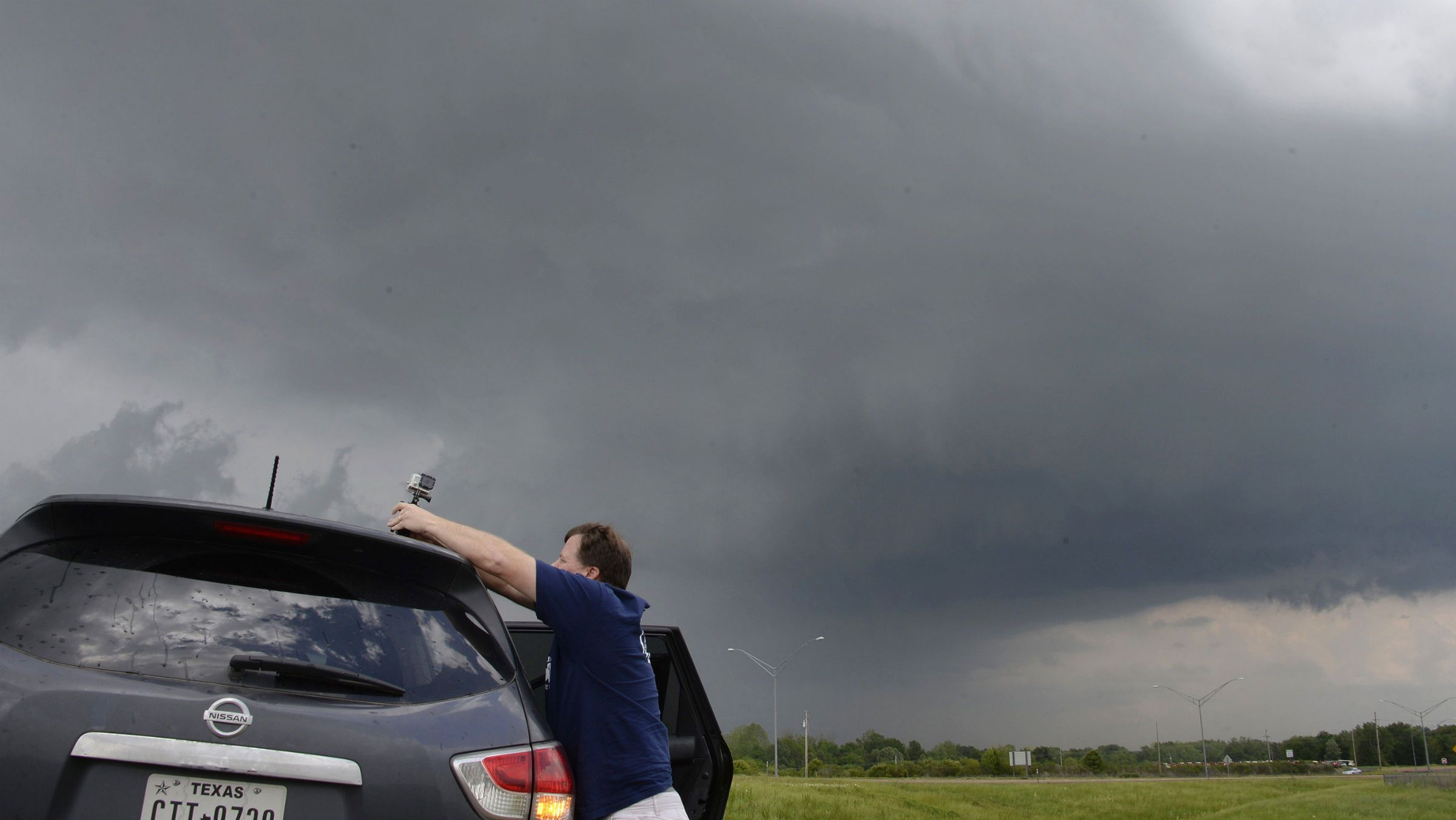Storm chaser with GoPro