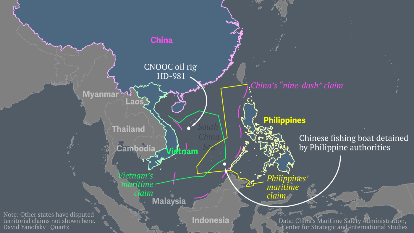 Here Are The Disputed Waters Where China Parked A Giant