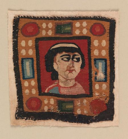 Wool slit tapestry square, 5th–7th century Egypt at Cooper Hewitt