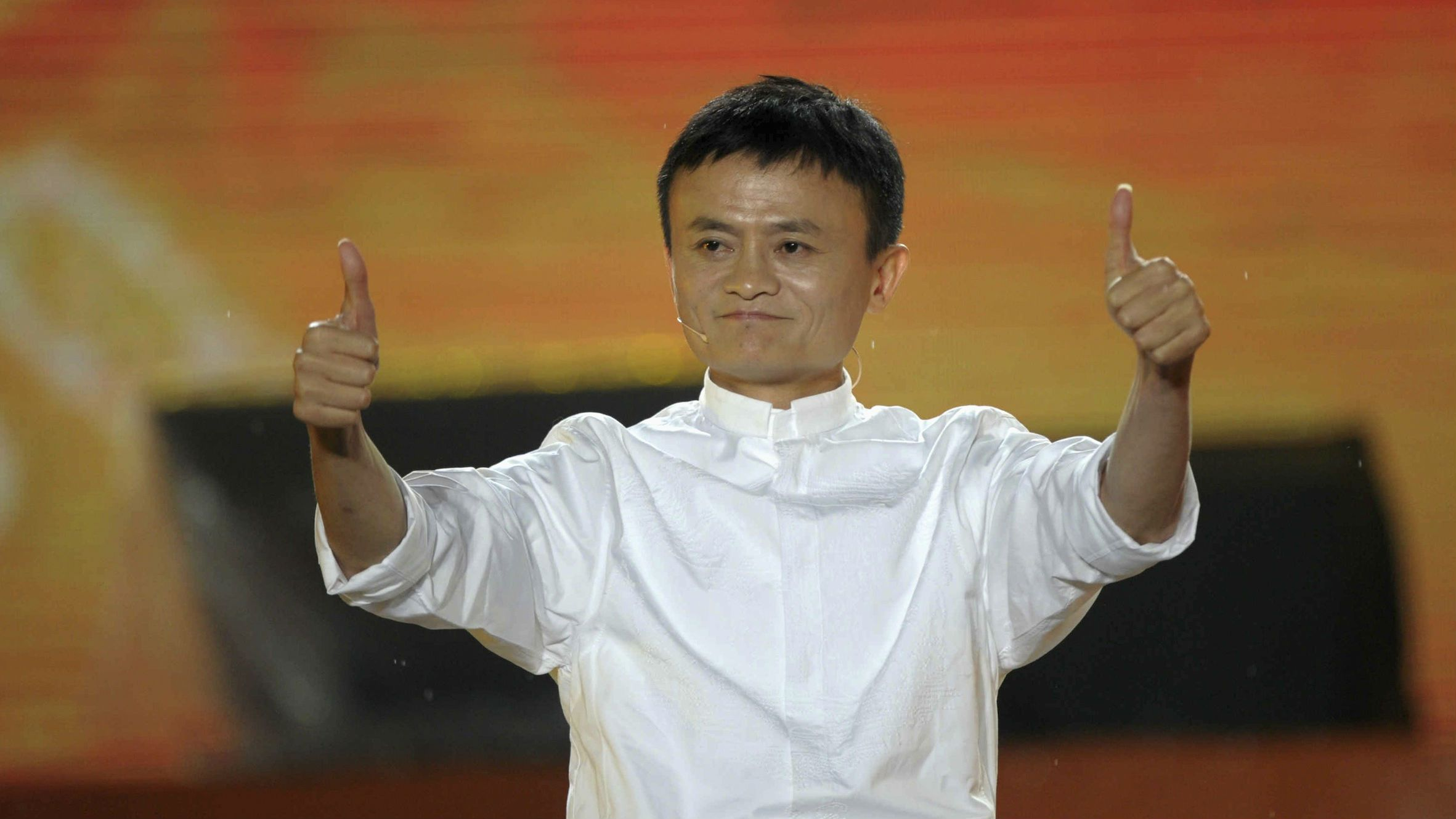 alibaba jack ma thumbs up web