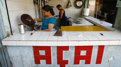 acai from brazil, at a juice stand in the amazon, world cup