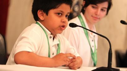 Child speaks at Capitol Hill