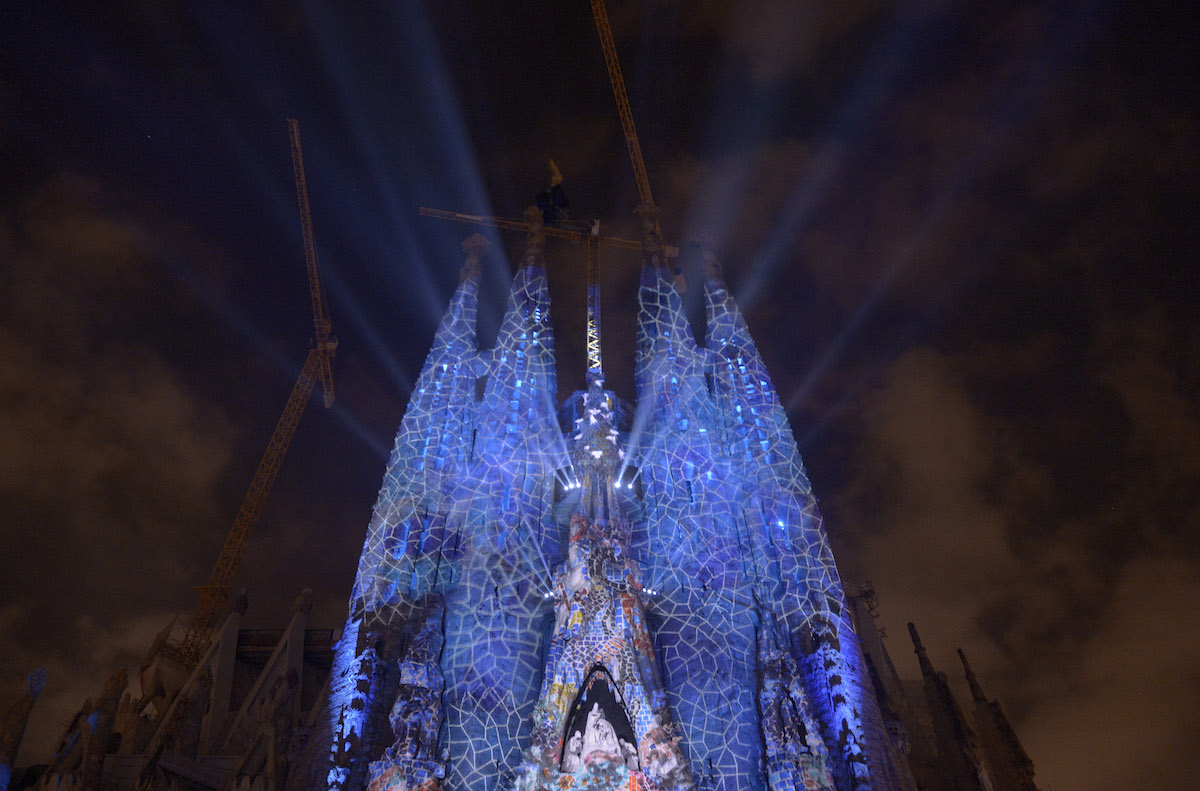 Photo of Gaudí's Sagrada Familia during Barcelona' 2012 Merce Festival