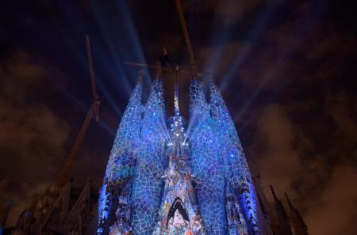 Photo of Gaudí's Sagrada Familia during Barcelona' 2012 Merce Festival