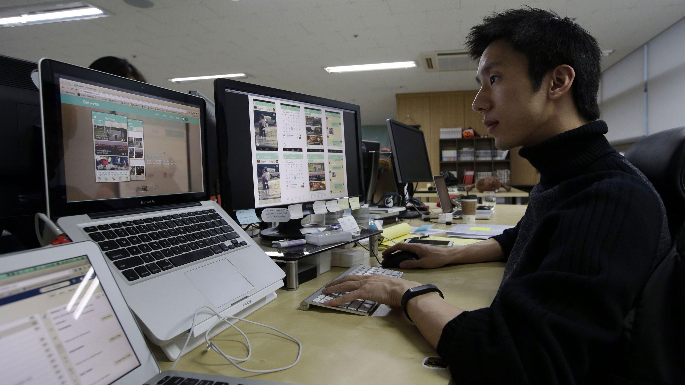 A programmer at work