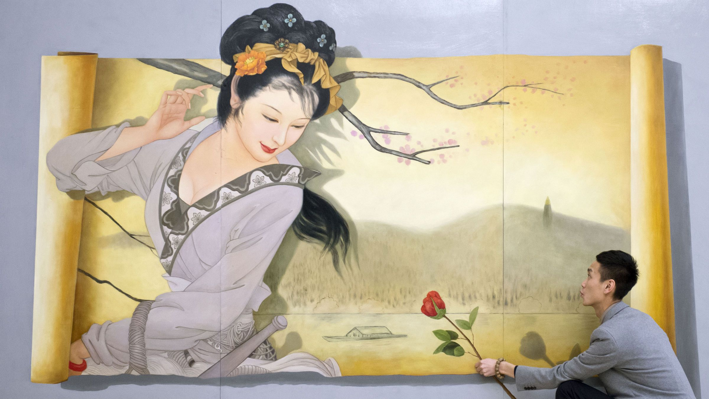 3D Chinese painting
