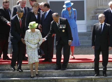 World leaders at the D-Day memorial