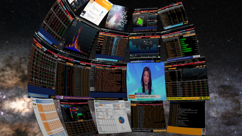 Bloomberg terminal on Oculus