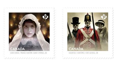 Canada Post haunted stamps