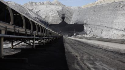 The Jim Bridger coal mine in Wyoming.