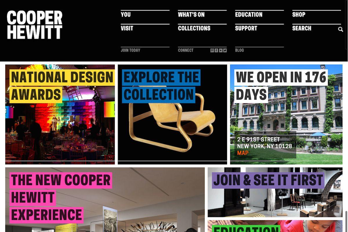 Cooper Hewitt's new website