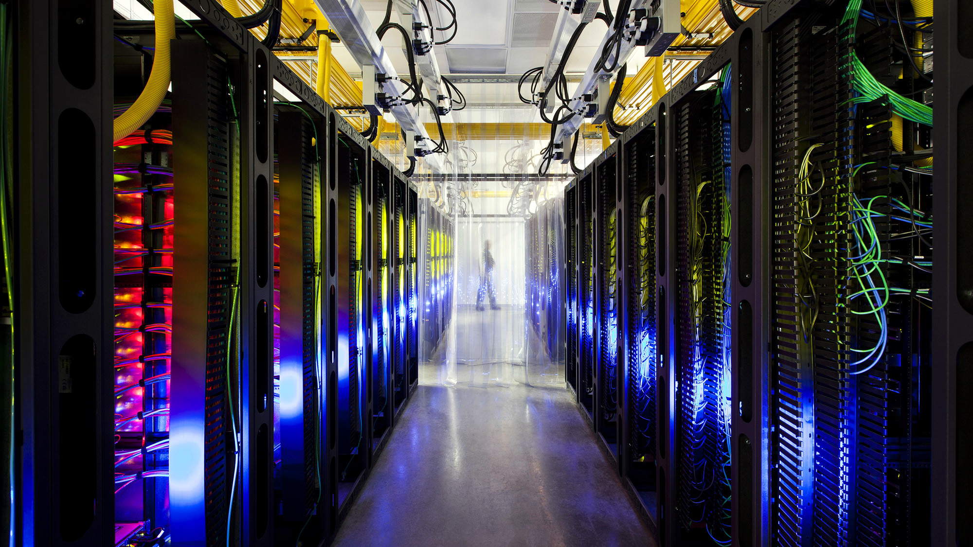 In this undated file photo made available by Google shows the campus-network room at a data center in Council Bluffs, Iowa. With the cooperation of foreign allies, the NSA is potentially gaining access to every email sent or received abroad, or between people abroad, from Google and Yahoo's email services, as well as anything in Google Docs, Maps or Voice, according to a series of articles in the Washington Post.