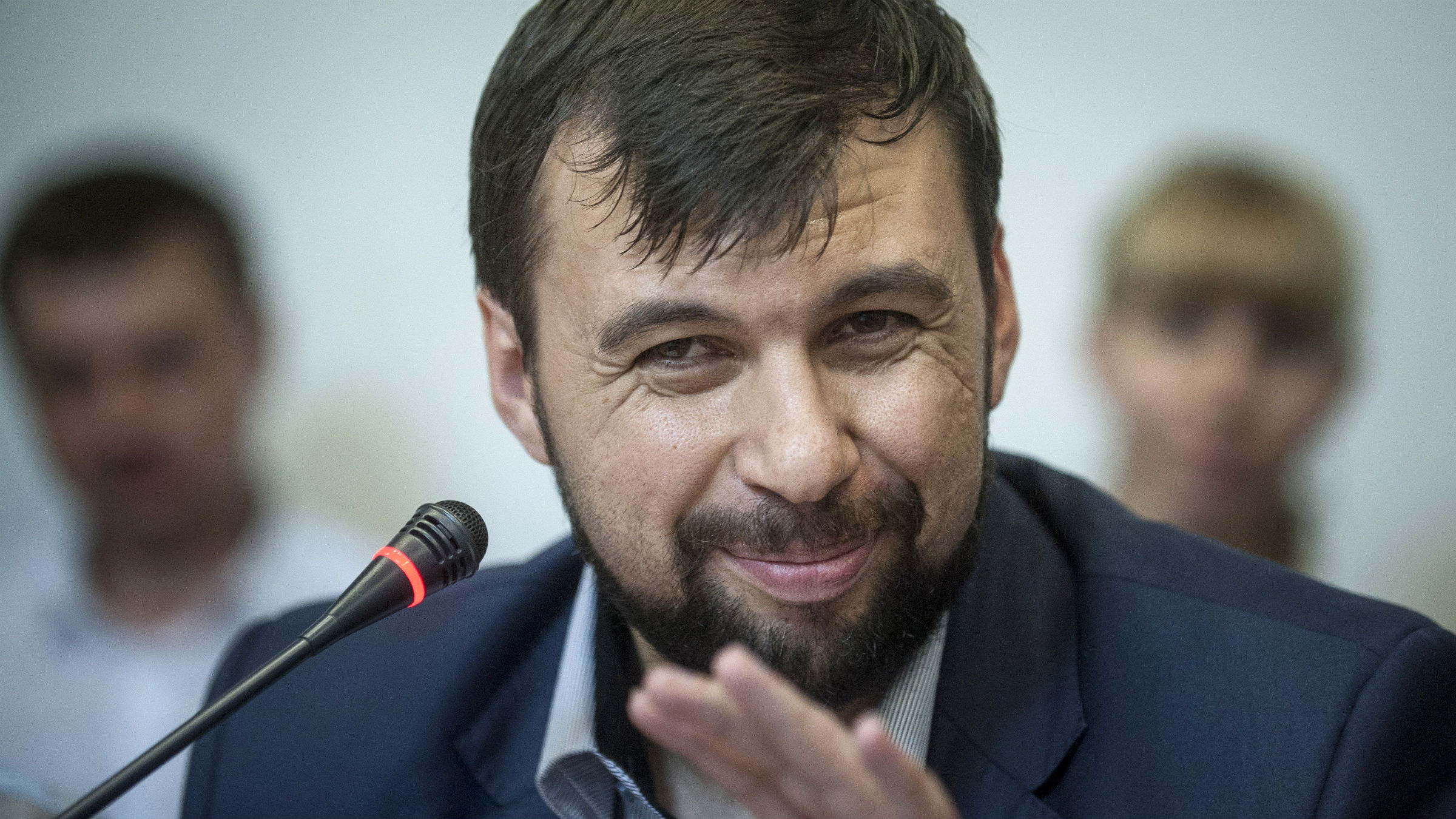 Photo of Denis Pushilin, leader of Donetsk People's Republic separatists.
