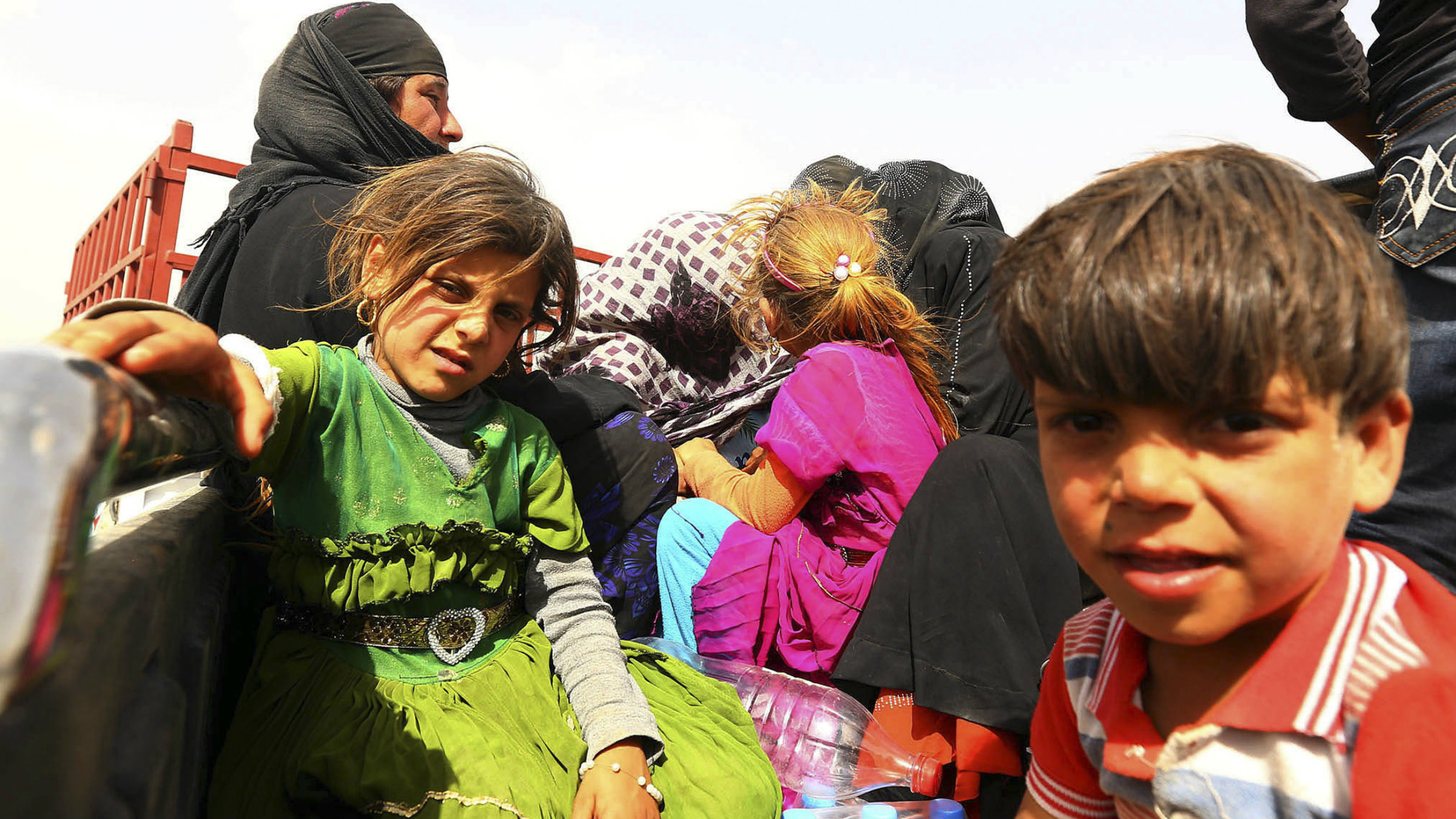 Refugees fleeing the fighting in Iraq.