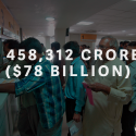 ₹ 458,312 crore ($78 billion)