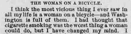 Excerpt from old newspaper
