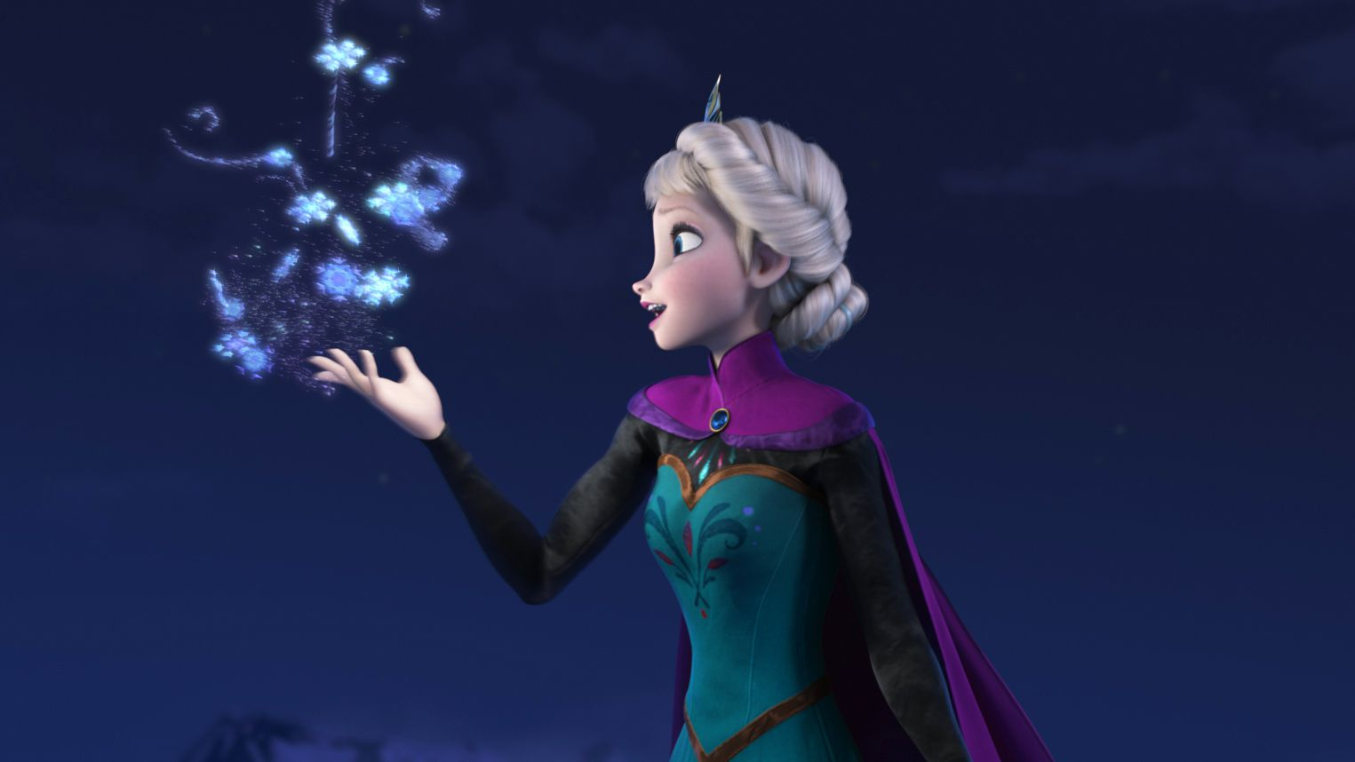 """This image released by Disney shows Elsa the Snow Queen, voiced by Idina Menzel, in a scene from the animated feature """"Frozen."""" (AP Photo/Disney japan frozen sexism elsa Let it go"""