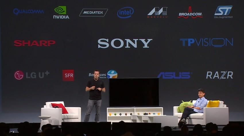 Google IO smart TV partner lineup Sony Sharp LG