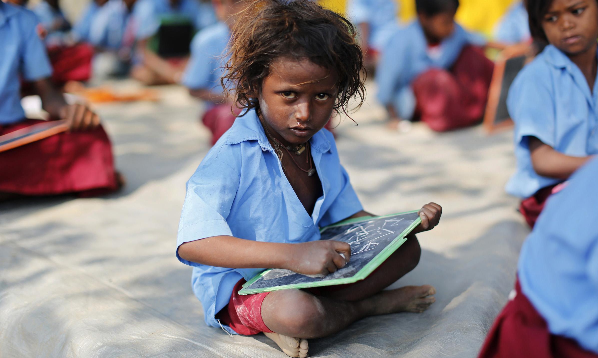 India-school-child