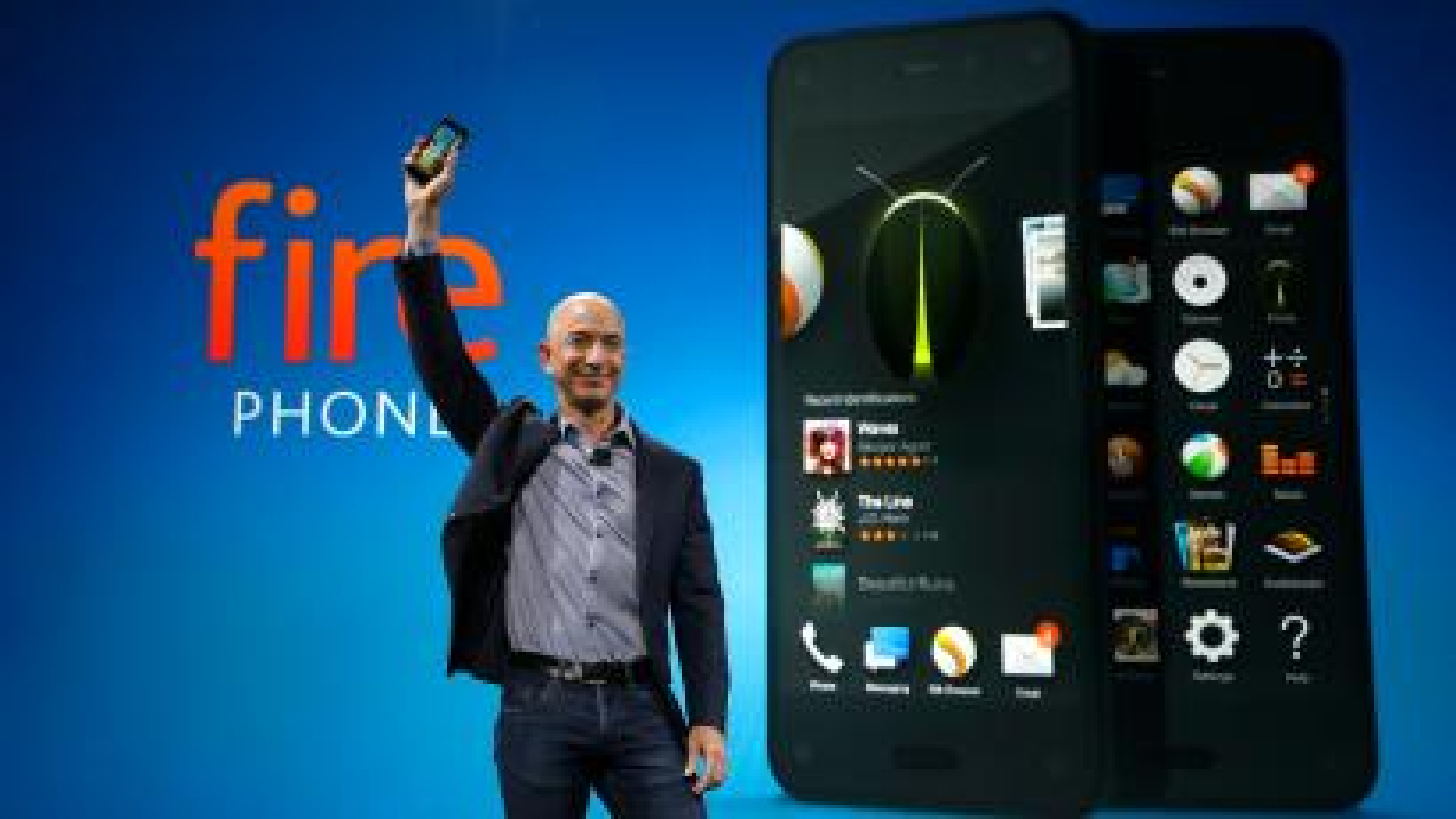 Amazon CEO Jeff Bezos unveils the Fire Phone