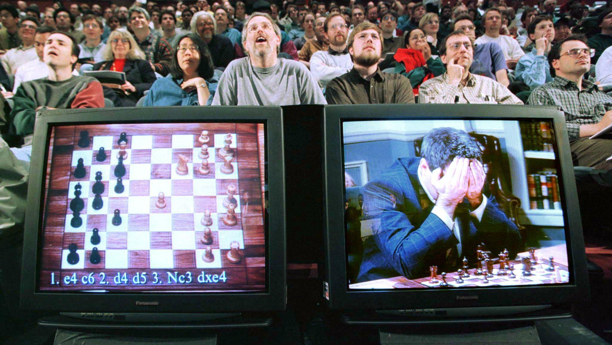 Gary Kasparov during a match against Deep Blue.