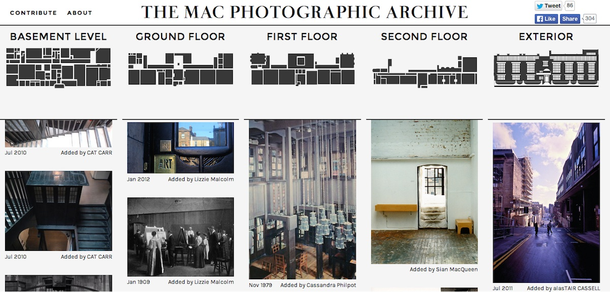 screenshot of the Mac Photographic Archives website