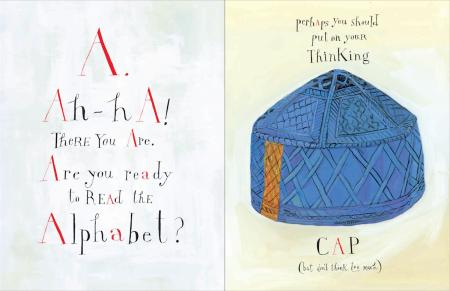 Maira Kalman illustration of blue hat from Ah-Ha to Zig-Zag: 31 Objects from Cooper Hewitt, Smithsonian Design Museum (New York: Cooper Hewitt, Smithsonian Design Museum, 2014)