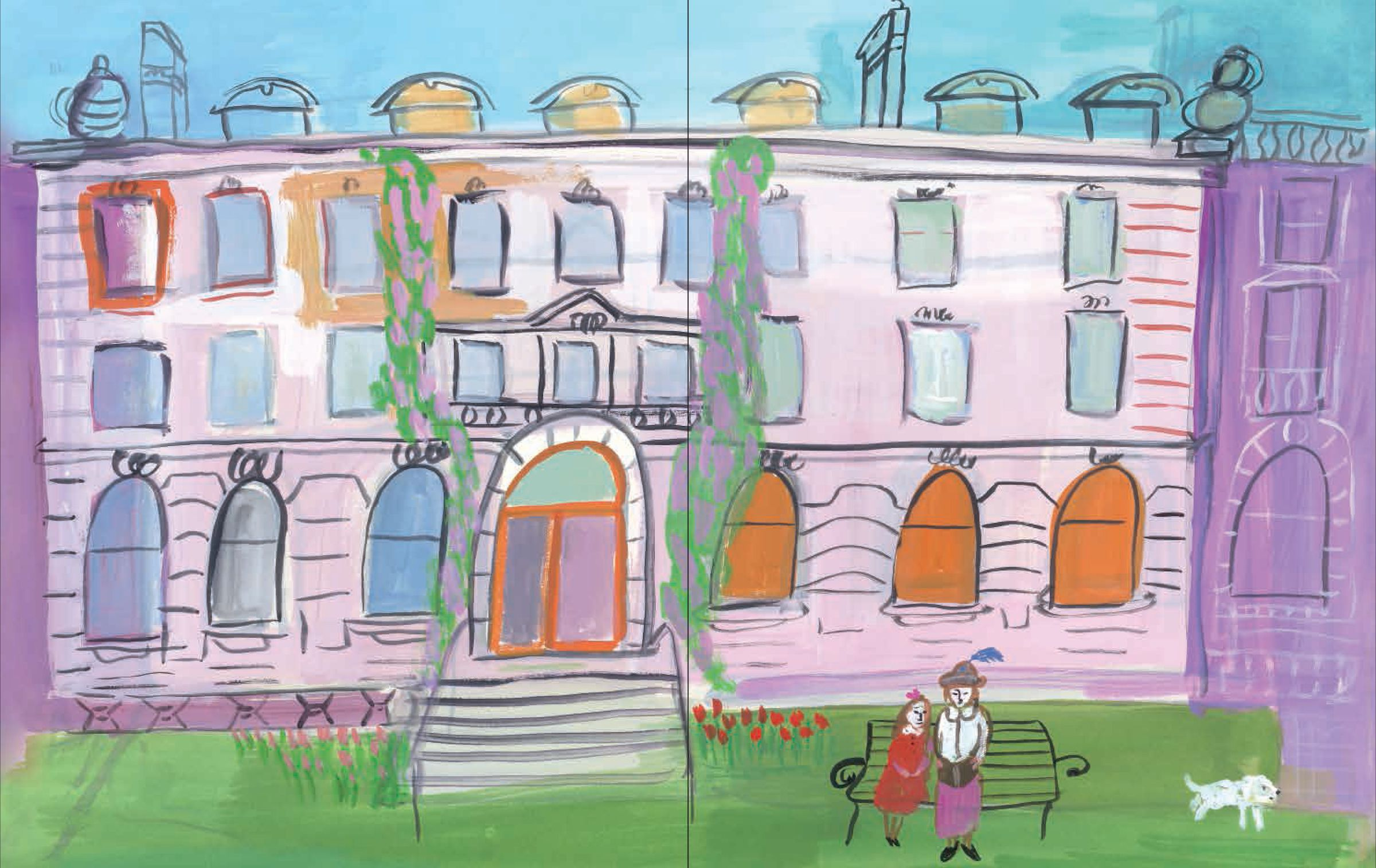 Cooper Hewitt museum at the carnegie mansion illustration by Maira Kalman