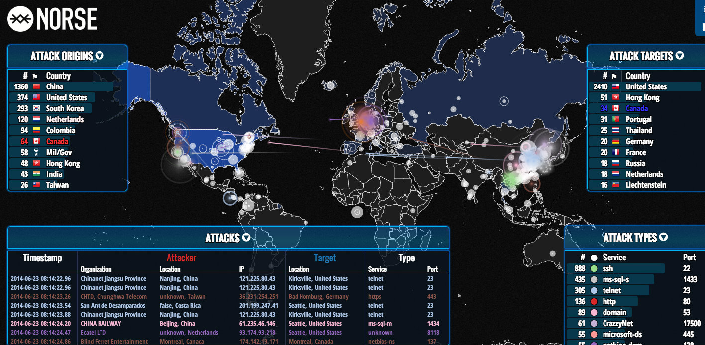 Watch The Global Hacking War In Real Time With A Weirdly Hypnotic