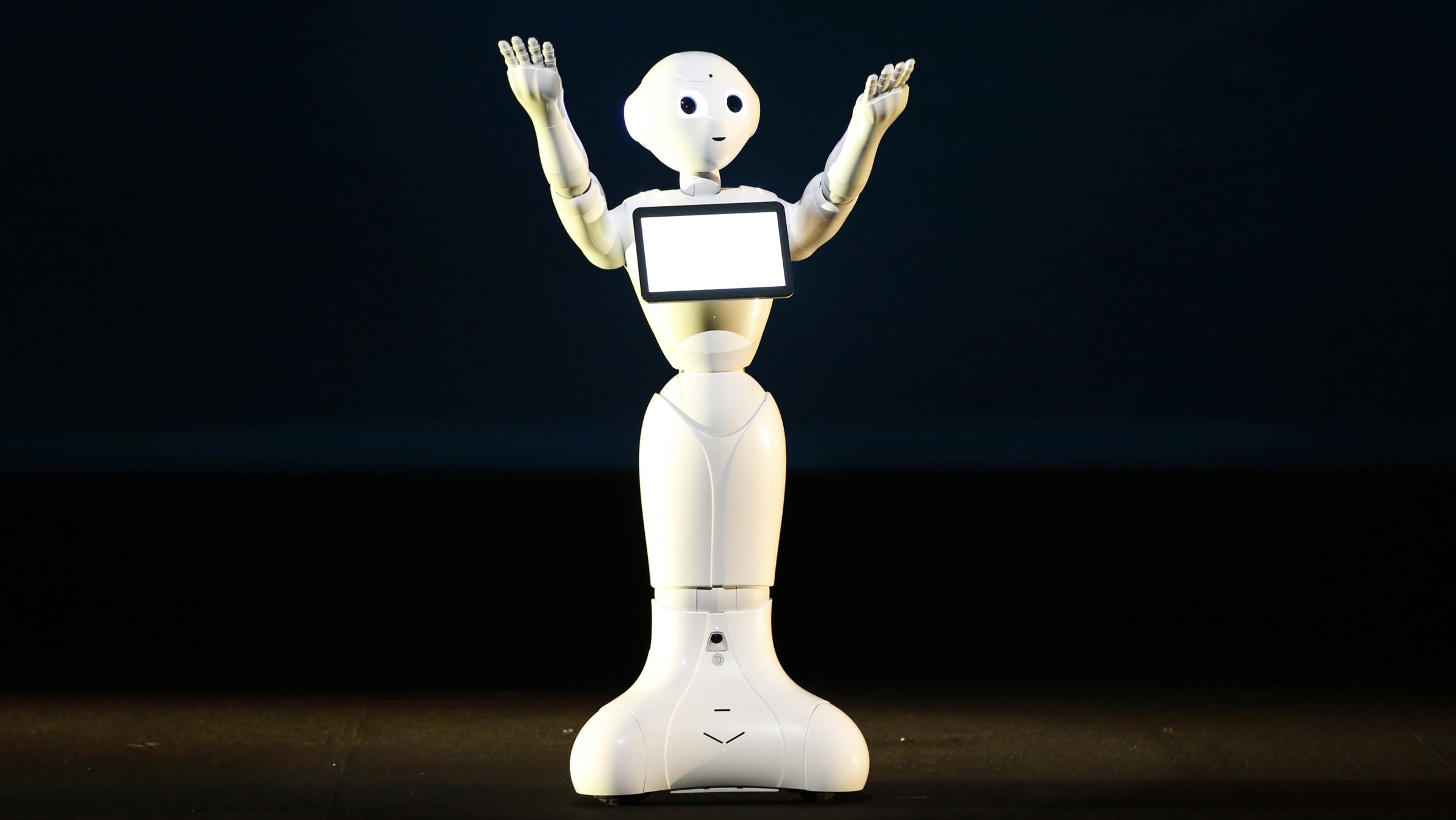 SoftBank Corp. unveils human-like robots named 'pepper' at the company's news conference in Urayasu, east of Tokyo