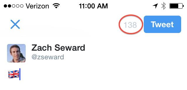 Flag emoji on Twitter