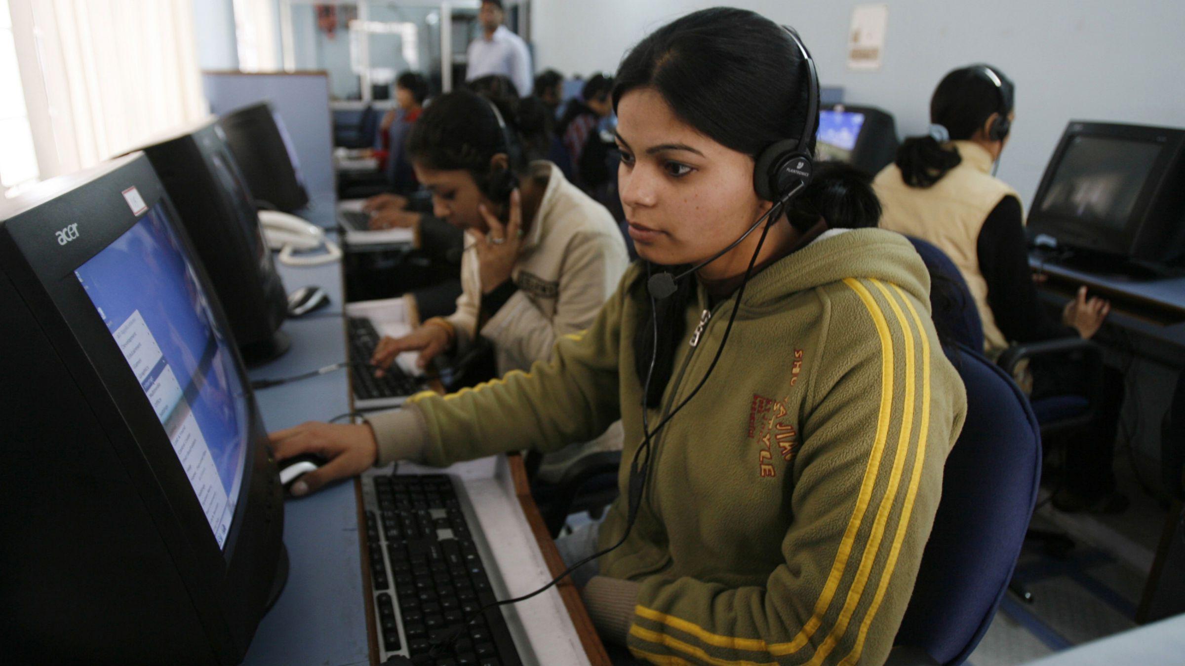Call center operator in India