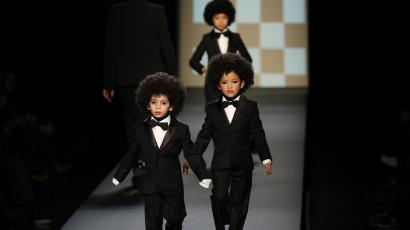 Kids with afros