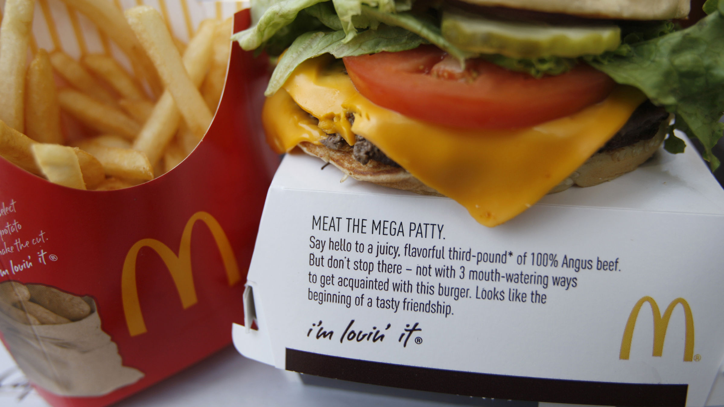 McDonald's product is pictured in a restaurant in Washington, July 23, 2010. McDonald's Corp reported weaker-than expected sales at established restaurants, overshadowing a profit beat for the second quarter, and shares dropped 2 percent.